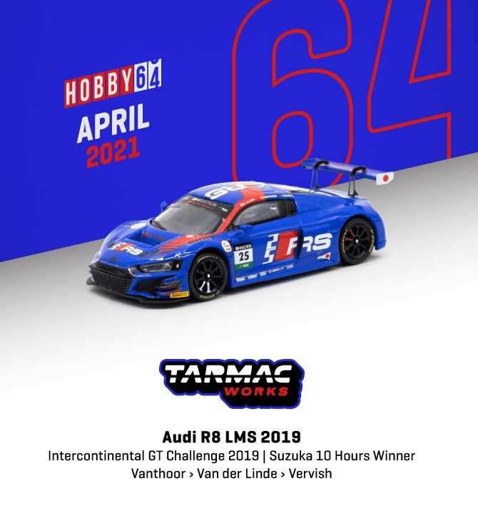 TARMAC 1/64 Audi R8 LMS 2019 Intercontinental GT Challenge 2019