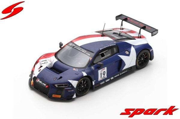 Spark 1/43 Audi R8 LMS No.19 Audi Sport Team WRT 2nd California 8H 2018 R. Frijns - D. Vanthoor - M. Winkelhock