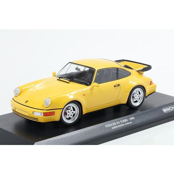 【MINICHAMPS】 1/18 ポルシェ 911 ターボ (964) 1990 イエロー