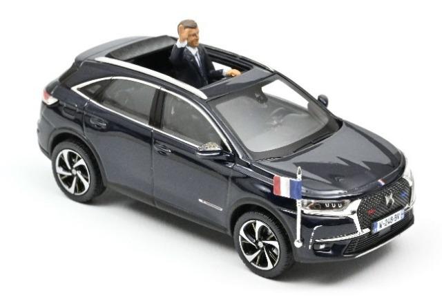 NOREV 1/43 DS 7 クロスバック 大統領公用車 2017 フィギュア付