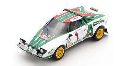 <予約 2021/12月発売予定> Spark 1/18 Lancia Stratos HF No.1 Winner Rally Monte Carlo 1977 S. Munari - S. Maiga
