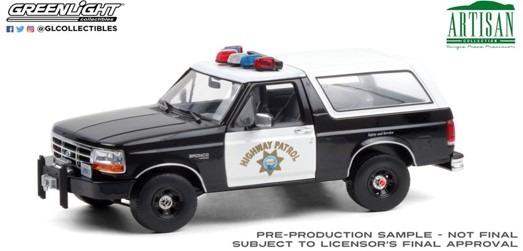 <予約 2021/3月発売予定> GREENLIGHT 1/18 Artisan Collection - 1995 Ford Bronco - California Highway Patrol