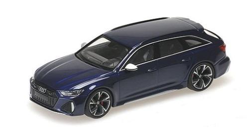 MINICHAMPS 1/43 アウディ RS 6 アバント 2019 ブルーメタリック