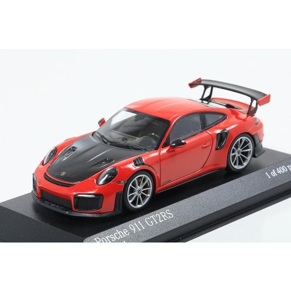 【MINICHAMPS】 1/43 ポルシェ 911(991.2) GT2RS 2018 レッド (ノーマル) シルバーホイール