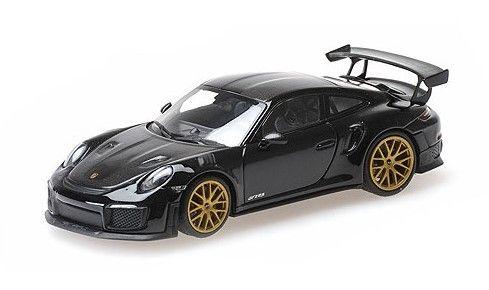 MINICHAMPS 1/43 ポルシェ 911 (991.2) GT2RS 2018 ブラック (ヴァイザッハパッケージ) オーラムホイール