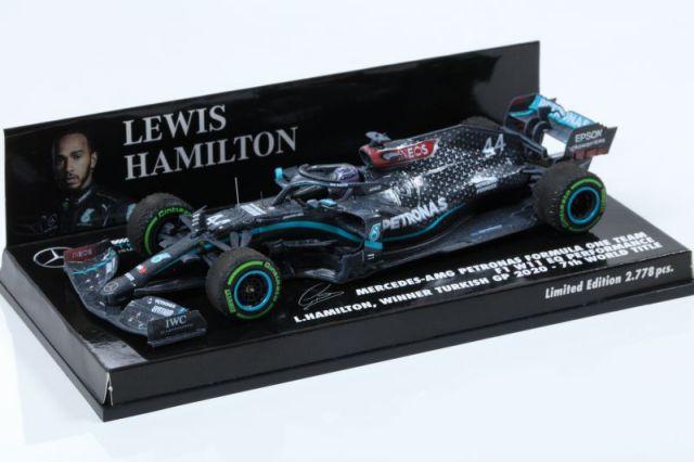 MINICHAMPS 1/43 メルセデス AMG ペトロナス F1 チーム W11 EQ PERF L.ハミルトン トルコGP 2020 ウィナー 7回目 ワールドタイトル