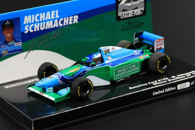 MINICHAMPS 1/43 ベネトン フォード B194 Mシューマッハ Winner ブラジルGP 1994