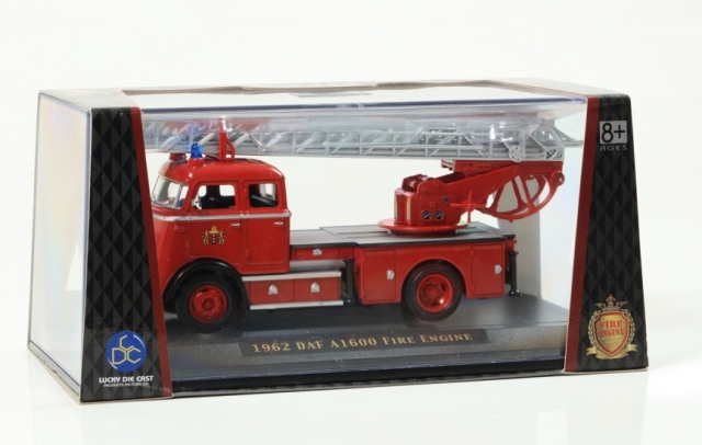 LUCKY DIE CAST 1/43 1962 DAF A1600 FIRE ENGINE