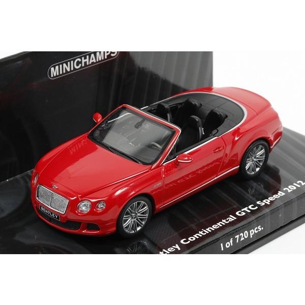 【ミニチャンプス】 1/43 ベントレー コンチネンタル GT スピード コンバーチブル 2012 ST.JAMES レッド *限定720台