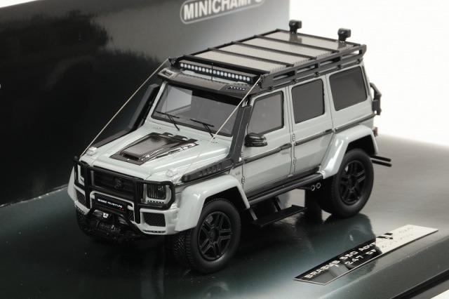 MINICHAMPS 1/43 ブラバス 550 アドベンチャー 4X4? ベース (G 500 4X4 2017) ライトグレー