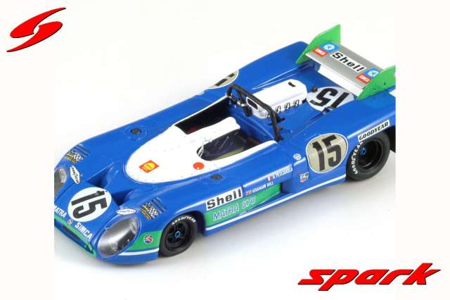 spark 1/43 MATRA SIMCA MS 670 NO.15 WINNER 24H LE MANS 1972 H. PESCAROLO - G. HILL