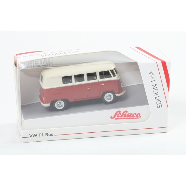【Schuco】 1/64 VW T1 バス レッド/ベージュ