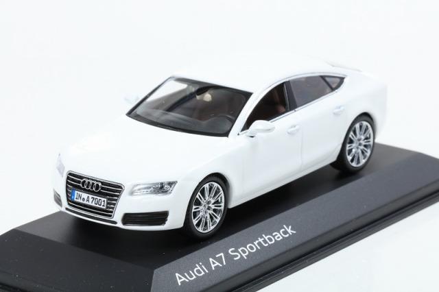 Kyosho 1/43 Audi A7 Sportback Ibis White  アウディ特注