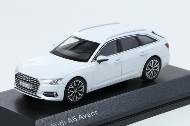 Audi 1/43 アウディ A6  アバント  グレイシアホワイト