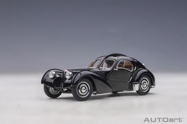 <予約 2021/4月発売予定> AUTOart 1/18 ブガッティ タイプ57SC アトランティック 1938 (ブラック/ディスクホイール)