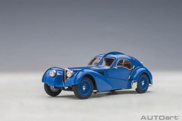 <予約 2021/4月発売予定> AUTOart 1/18 ブガッティ タイプ57SC アトランティック 1938 (ブルー/ワイヤースポークホイール)