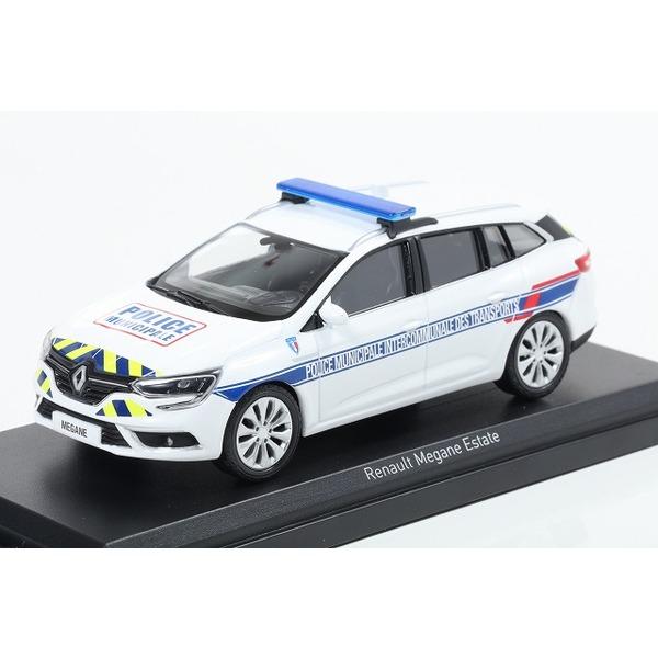 【NOREV】 1/43 ルノー メガーヌ エステート 2016 Police Municipale Intercommunale des Transports
