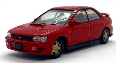 BM CREATIONS 1/64 スバル インプレッサ WRX 1994 レッド RHD