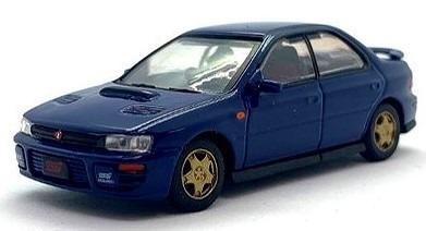 BM CREATIONS 1/64 スバル インプレッサ WRX 1994 ブルー RHD