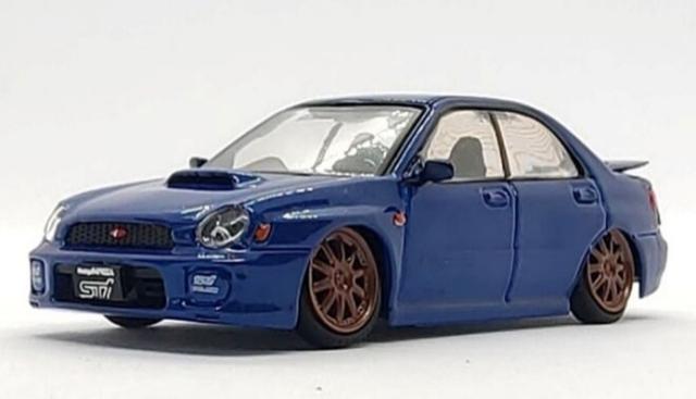 BM CREATIONS 1/64 スバル 2001 インプレッサ WRX ブルー RHD