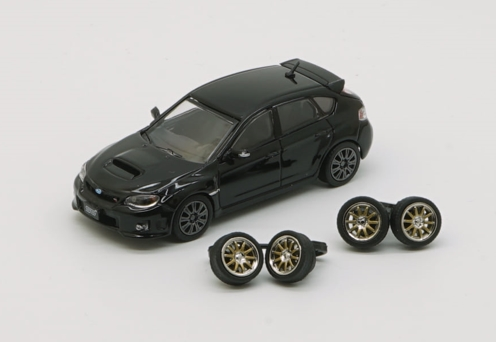 BM CREATIONS 1/64 Subaru 2009 Impreza WRX Black RHD