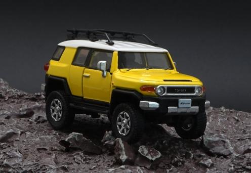 BM CREATIONS 1/64 Toyota FJ Cruiser Yellow RHD
