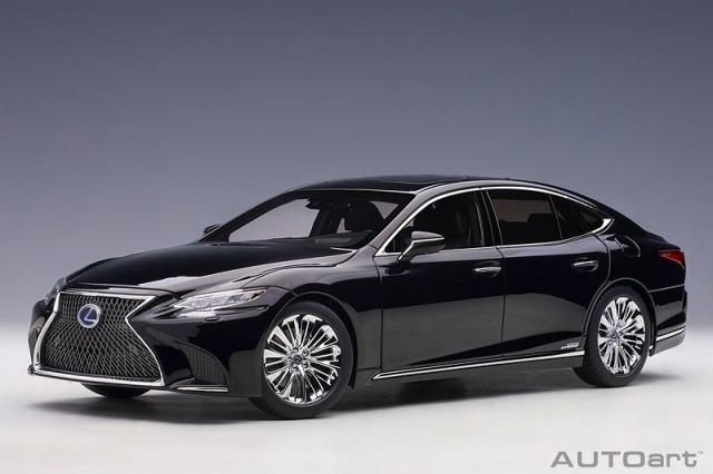 AUTOart 1/18 レクサス LS500h (ブラック ※インテリア・カラー/ブラック)
