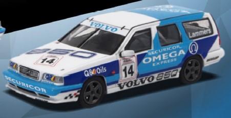 POP RACE 1/64 ボルボ 850 T-5R エステート イギリスツーリングカー選手権1994 #14