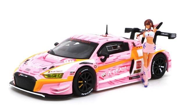 POP RACE 1/64 Audi R8 LMS エヴァ RT 正規実用型(ヴィレカスタム) 8号機 X Works 真希波・マリ フィギュア セット