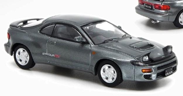 POPRACE 1/64 Toyota CELICA GT-Four ST185 Grey Metallic
