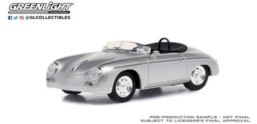 <予約 2021/1月発売予定> GREENLIGHT 1/43 1958 Porsche 356 Speedster Super - Silver Metallic