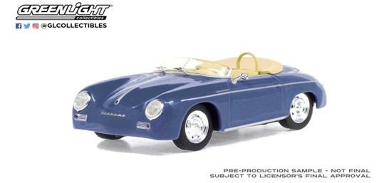 <予約 2021/1月発売予定> GREENLIGHT 1/43 1958 Porsche 356 Speedster Super - Aquamarine Blue