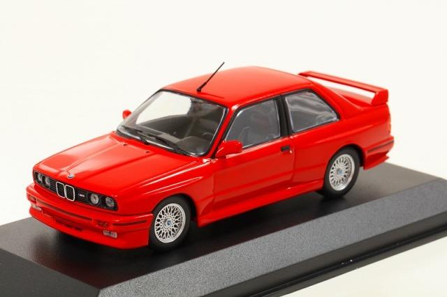 MINICHAMPS 1/43 BMW M30 (E30) 1987 レッド  MAXICHAMPSシリーズ