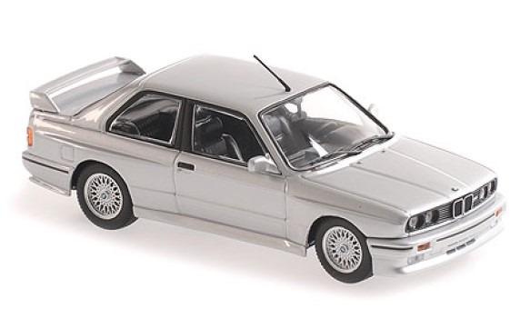 MINICHAMPS 1/43 BMW M3 (E30) 1987 シルバーメタリック MAXICHAMPSシリーズ