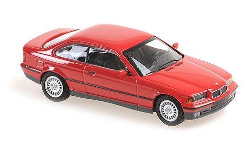 MINICHAMPS 1/43 BMW 3-シリーズ クーペ 1992 レッド MAXICHAMPSシリーズ