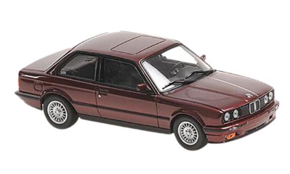 MINICHAMPS 1/43 BMW 3-シリーズ (E30) 1989 レッドメタリック MAXICHAMPSシリーズ