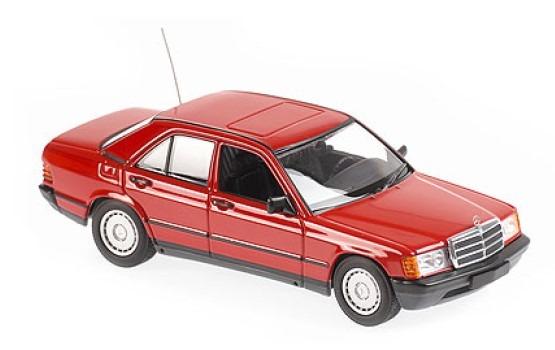 MINICHAMPS 1/43 メルセデス ベンツ 190E 1984 レッド MAXICHAMPSシリーズ