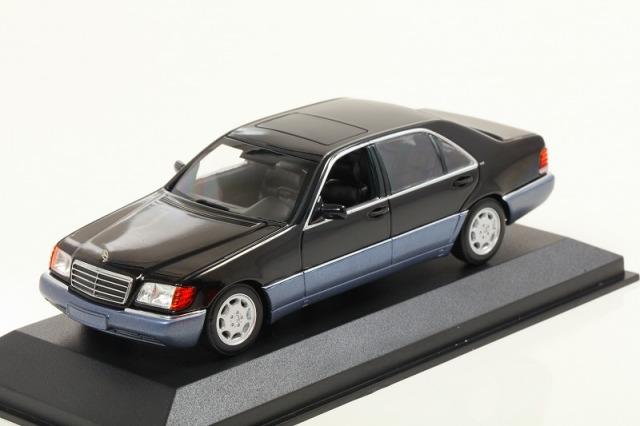 MINICHAMPS 1/43 メルセデス ベンツ 600 SEL (W140) 1991ブラックメタリック ※MAXICHAMPSシリーズ