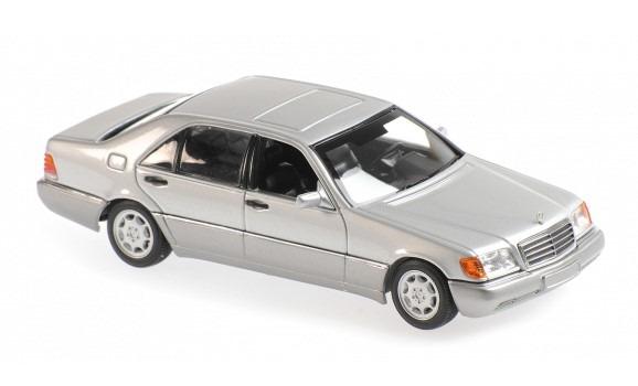 MINICHAMPS 1/43 メルセデス ベンツ 600 SEL (W140) 1991 シルバーメタリック ※MAXICHAMPSシリーズ