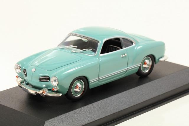MINICHAMPS 1/43 フォルクスワーゲン カルマン ギア クーペ 1955 ライトブルー  MAXICHAMPSシリーズ