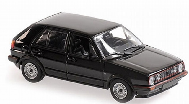 MINICHAMPS 1/43 フォルクスワーゲン ゴルフ GTI 4ドア 1986 ブラック ※MAXICHAMPSシリーズ