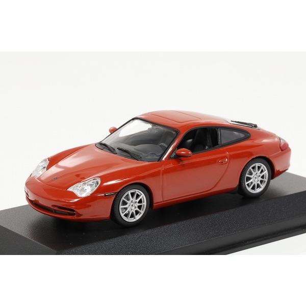 【ミニチャンプス】 1/43 ポルシェ 911 クーペ (2001) オレンジレッドメタリック ※MAXICHAMPS シリーズ