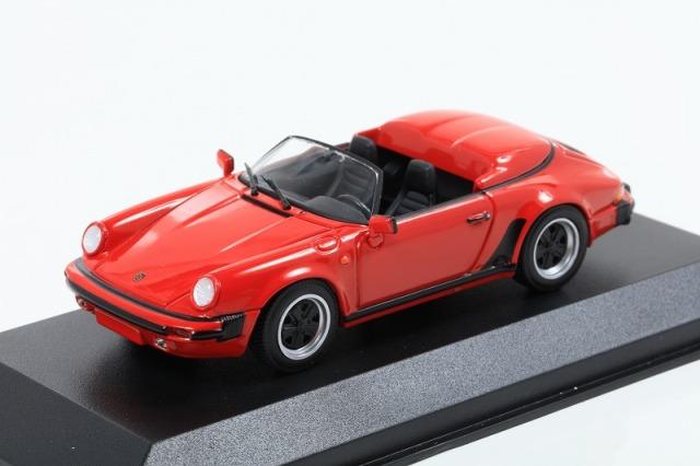 MINICHAMPS 1/43 ポルシェ 911 スピードスター 1988 レッド MAXICHAMPSシリーズ