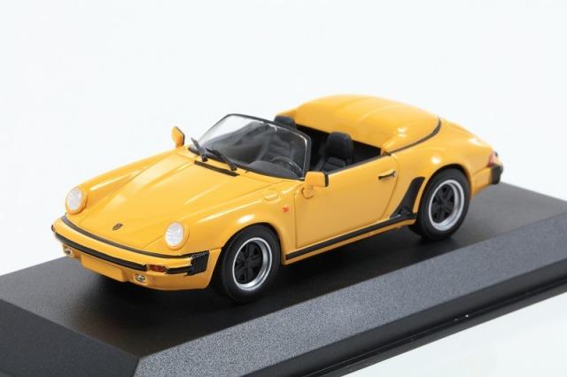 MINICHAMPS 1/43 ポルシェ 911 スピードスター 1988 イエロー MAXICHAMPSシリーズ