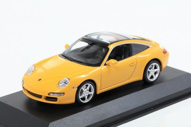 MINICHAMPS 1/43 ポルシェ 911 タルガ 2006 イエロー MAXICHAMPSシリーズ