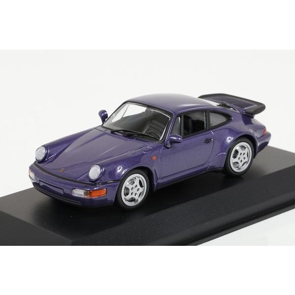 【ミニチャンプス】 1/43 ポルシェ 911 ターボ (964) 1990 パープルメタリック  ※MAXICHAMPS シリーズ