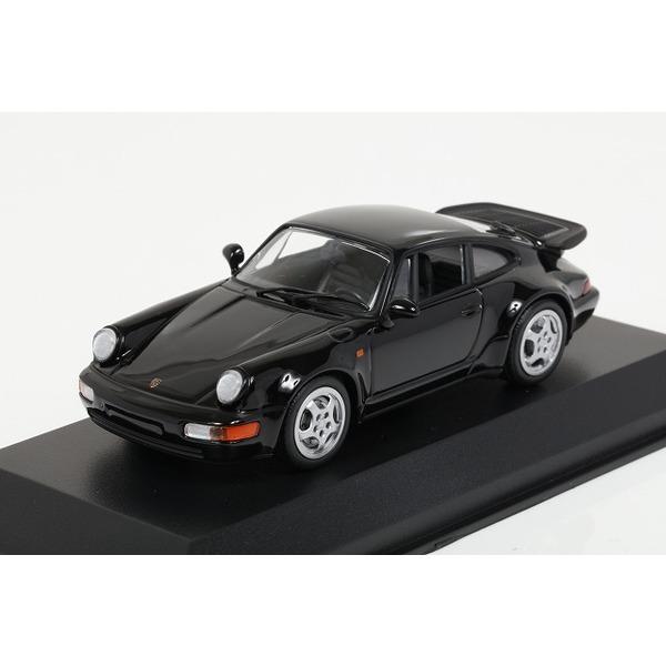 【ミニチャンプス】 1/43 ポルシェ 911 ターボ (964) 1990 ブラック ※MAXICHAMPS シリーズ