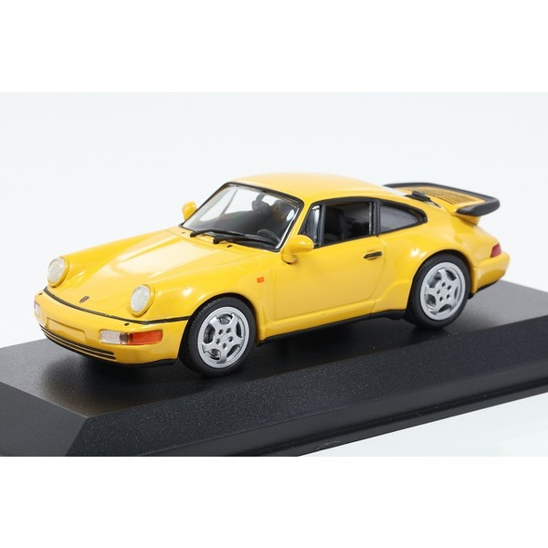 【ミニチャンプス】 1/43 ポルシェ 911 ターボ (964) 1990 イエロー ※MAXICHAMPSシリーズ