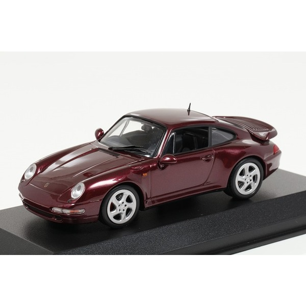 【ミニチャンプス】 1/43 ポルシェ 911 ターボ S (993) 1997 レッドメタリック ※MAXICHAMPS シリーズ