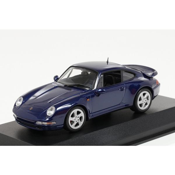 【ミニチャンプス】 1/43 ポルシェ 911 ターボ S (993) 1997 ブルーメタリック ※MAXICHAMPS シリーズ